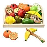 CARLORBO Jouets en Bois Pretend Play Nourriture pour Enfants de Cuisine, Jeu de rôle magnétique Fruits et...