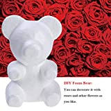 Ours artisanal en polystyrène mousse de polystyrène ours blanc pour fournitures de fête bricolage 30cm/11.8...