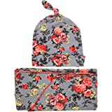 Zoylink Chapeau de Bébé Floral Mignon Doux Chapeau Infantile Bonnet Bébé avec Couverture pour Bébé...