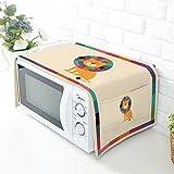 Four à micro-ondes à la poussière Housse Housse de protection avec tissu en coton et lin–Maison de...