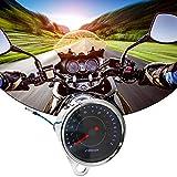 MOGOI Tachymètre Universel pour Moto 12 V LED avec Fonction de Vision Nocturne