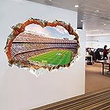 La nouvelle Coupe du Monde 3D stade de football trou stade perspective mur décoratif paysage peinture PVC...