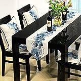 SED Couverture de Table Ronde de ménage, Chanvre de Coton Classique de Couleur Solide Simple brodé Table de...