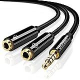 UGREEN Câble Adaptateur Audio Jack 3,5mm Mâle vers Double Prises Séparées 3,5mm Répartiteur Audio et...