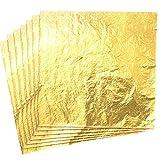 CZ Store-Marque Francaise- Feuille d'or|14X14 CM|Garantie A Vie-Feuilles d'or|Lot de 100|Feuille Imitation Or...