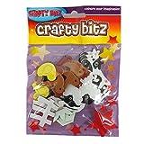 Crafty Bitz Mousse Artisanale EVA Forme d'autocollants - Animaux de la Ferme, Paquet de 35