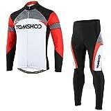 TOMSHOO Veste Velo Homme Cycliste VTT Ensemble de Velo Pantalon Cycliste Homme