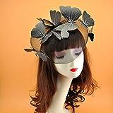 JWTS Stéréo papillon filet gaze cerceau masque marche spectacle modèle coiffe épingle à cheveux photo de...