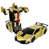 1:12 Transformer Voiture Robot Jouet Enfants Transformation Robot Télécommande Voiture Un Bouton...