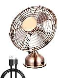 Ventilateur personnel de bureau de mini USB, opération tranquille, conception en métal, ventilateur...