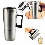 YONGYAO Portable 300Ml 12V en Voiture Cafetière Tea Pot Véhicule Thermos Tasse Couvercle De Chauffage