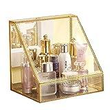 Jia He Porte-stylo Retro Cosmetics Storage Box Non-acrylique, fer forgé, verre, bureau, produits de soins de...