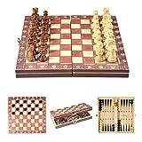 Jeu d'échecs en bois Jeu d'échecs en bois Jeu de pièces d'échecs magnétiques Panneau de jeu de tournoi...