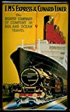 LMS Express & Cunard Liner par Rail et Ocean Voyage nostalgique 3D en Relief et en Forme de dôme Solide...