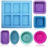 FineGood Lot de 13 moules à savon en silicone de qualité alimentaire pour cupcakes, muffins, moule à...