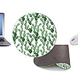 lbonb Mode Ronde Verte Cactus Usine Tapis DeSouris TapisBureau Artisanat Mode Accessoires Tapis