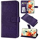 Saceebe Compatible avec Samsung Galaxy A70 Coque Cuir Étui Wallet Flip Portefeuille Housse Mandala Fleur...