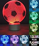 Optical Illusion 3D Lamp 7 Colour Changing Football