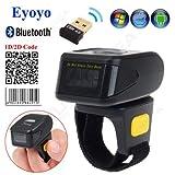 Eyoyo QR Mini Lecteur de code à Barres Portable Blue-tooth Douchette de Lecteur en Bague 1D 2D Compatible...