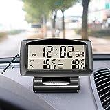 Affichage électronique de thermomètre automobile de détecteur de température d'horloge de voiture...