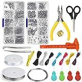 FEPITO Bijoux Trouver Starter Tools Kit Kit De Fabrication De Bijoux avec Perles Fil pour La Réparation Des...