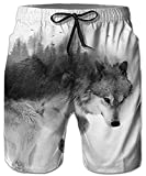 Idgreatim Hommes 3D Impression Casual Conseil Court Skull Classique Drawstring Loose Fit Trunks Conseil Shorts...