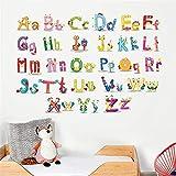 Bande Dessinée Drôle Anglais Alphabet Enfants Chambre Chambre Maternelle Bébé Apprentissage Stickers...