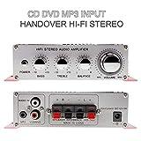 cedarfiny Multicanaux Amplificateurs Stéréo De Voiture 2 Canaux Stéréo Amplificateur DC12V Support CD/DVD...