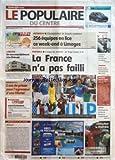 POPULAIRE DU CENTRE (LE) [No 145] du 24/06/2006 - LIMOGES - UN NOUVEAU BATIMENT A LA CHENAIE - JUSTICE - 2 ANS...