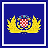 magFlags Drapeau Large Zapovjednika HRM | Commander-in-chief of the Croatian Navy | Kommandanten der...