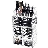 D4P Display4top Organisateur Maquillage Acrylique Boîte à Bijoux Transparent Rangement de Maquillage...