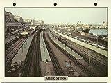 Maxi Carte Trains Alger Station de Chemin de Fer de l'Algérie Photo Tableau d'Acheminer
