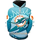 WLDSH Chandail de Sport Fan de Basket Nouveau Pull à Manches Longues Rugby Miami Dolphin Training Casual à...