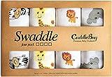 Mousseline bébé Lange couverture '4 Pack' par Cuddlebug | Disponible en 5 variantes de couleurs | 120cm x...