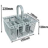 Panier à couverts Spares2go - Poignée et couvercle - Pour lave-vaisselle Bosch, Neff, Siemens