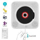 Lecteur CD,VIFLYKOO Lecteur de Musique Portable à Fixation Murale avec Haut-Parleur HiFi Radio FM MP3 USB...
