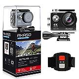 AKASO Caméra Sport Etanche 4k WiFi Action Cam 30fps, Caméscope Ultra HD, Écran LCD, Grand Angle 170°, 2...