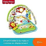 Fisher-Price Amis de la Jungle 3-en-1 Tapis d'Éveil Musical pour Bébé, Transportable, 2 Arches de Jeu, 5...