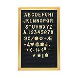 BUTLERS Tableau d'affichage 30x45 en noir-or - Tableau de correspondance rétro avec des lettres dorées comme...