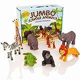 Learning Minds Set de 8 Figurines d'animaux Jumbo Jungle - 18 Mois +