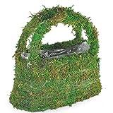 Panier à fleurs en mousse avec poignée - Porte-succulents en coprah avec doublure en coco pour herbes,...