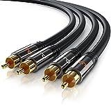 Primewire - RCA Audio Câble 1m HQ Stereo   Coaxial/Cinch Câble   Câble 2 x RCA mâle vers 2X RCA mâle  ...