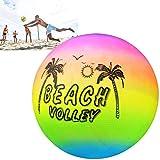 Ainstsk Beach volley, arc-en-ciel d'été gonflable PISCINE en caoutchouc volley-ball jouet Jeu Jouet pour...