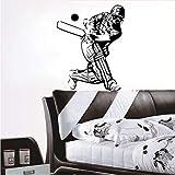 Mur créatif Nouveau Home Decor Accessoires Cricket Sport Player Wall Sticker Vinyle Amovible Salon...