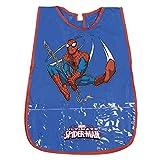 Tablier Enfant Marvel Spiderman - Blouse Garçon Impermeable PVC avec Poche Avant - Produit Officiel Ultimate...
