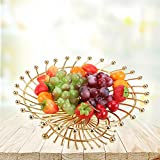 CanKun Fruit Basket Bowl Home Crafts Ornements , gold , A