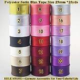 CUSHY -Polyester Satin Biais Bande, la Taille de Liaison de polarisation: 25 mm, 1 & Quot; * 25yds, Ruban Fois...