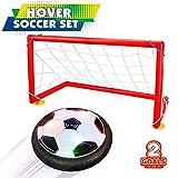 Garçon Jouets 5-10 ans, Joy-Jam Hover Football Objectif Set Air Soccer Football Disc électrique Soccer avec...