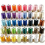 New brothread 40 Brother Couleurs Polyester Fil machine à broder pour Brother / Babylock / Janome / Singer /...