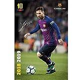 FCB Empire Merchandising Affiche FC Barcelone 2018/2019 Messi Action Produit Officiel Barcelone Signature...